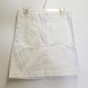 ann taylor LOFT white cotton skirt Sz 4